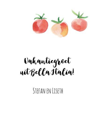Vakantiegroet Italië met tomaatjes 3
