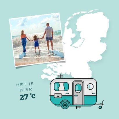 Vakantiekaart groetjes uit nederland kamperen camper foto 2