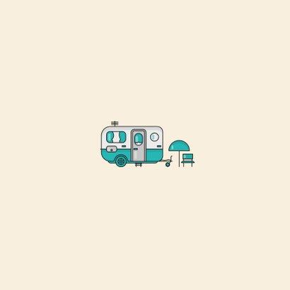 Vakantiekaart groetjes uit nederland kamperen camper foto Achterkant