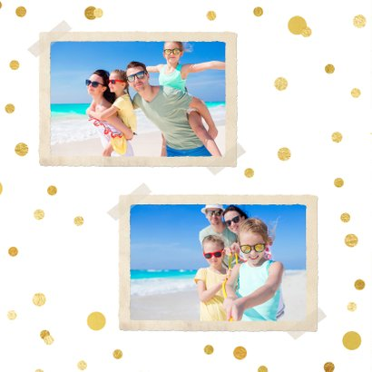Vakantiekaart Holiday ballon goud 2