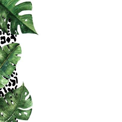 Vakantiekaart luipaard tropisch 2