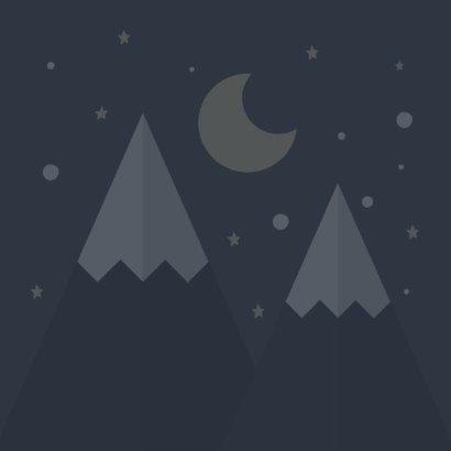 Vakantiekaart met bergen en sterren 'veel plezier op kamp' 2