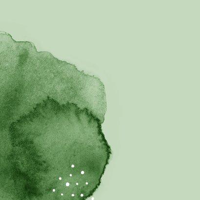 Vakantiekaart roadtrip avontuur groen waterverf fotocollage 2
