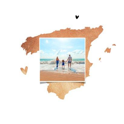 Vakantiekaart spanje hip fotocollage goud land 2