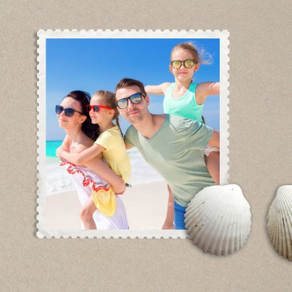 Vakantiekaart strandzand schelpen - SG 2