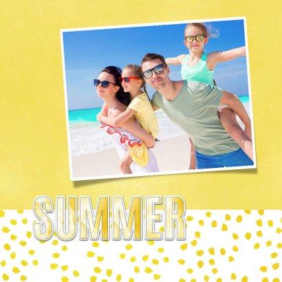Vakantiekaart Summer geel - SG 2