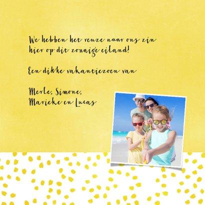 Vakantiekaart Summer geel - SG 3
