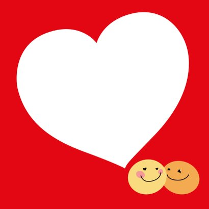 Valentiinskaart Smiley love 3