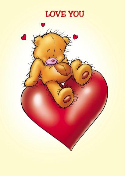 valentijn 7 beertje met hartjesballonnen 3