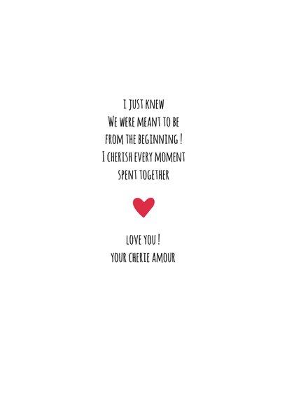 Valentijn Cherish you kaart 3