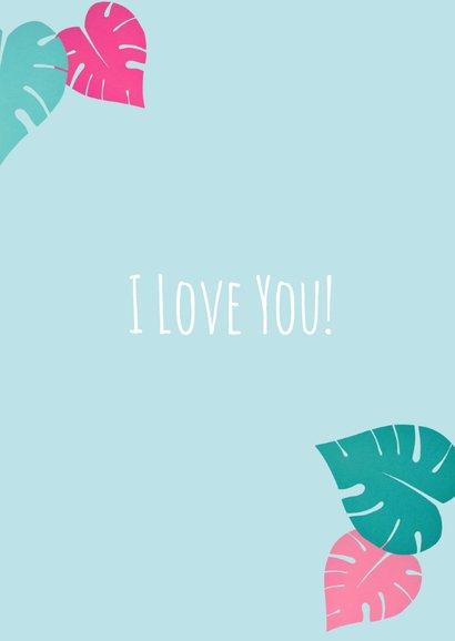Valentijn flamingo's love 3