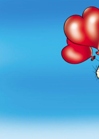 Valentijn lief beertje met ballonnen 2