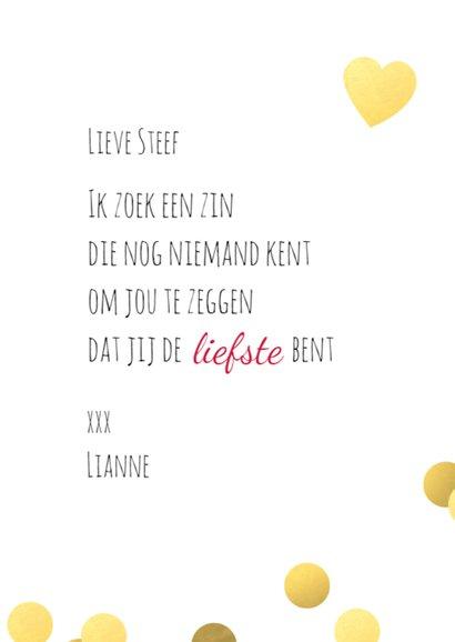 Valentijn Love You  met confetti 3