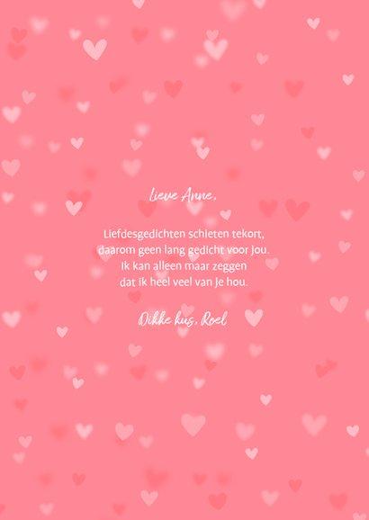 Valentijnskaart 2 foto's hartjes achtergrond 3