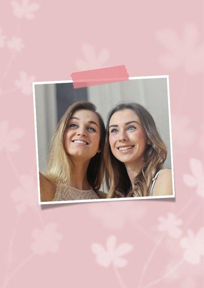 Valentijnskaart bedankt bloemen foto vriendschap 2