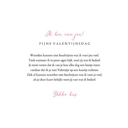 Valentijnskaart bloemen hartjes goud foto lief 3