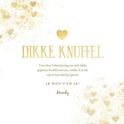 Valentijnskaart dikke knuffel gouden hart 3