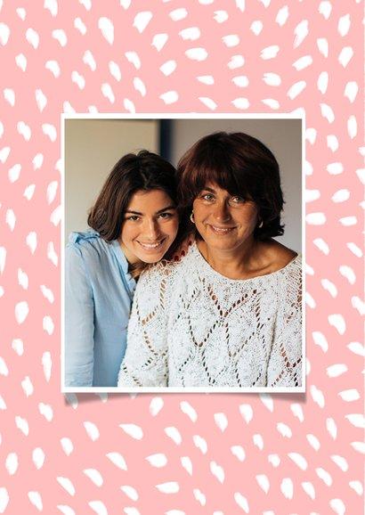 Valentijnskaart foto bedankt roze patroon 2