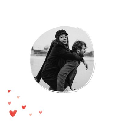 Valentijnskaart foto hartjes persoonlijk liefde  2