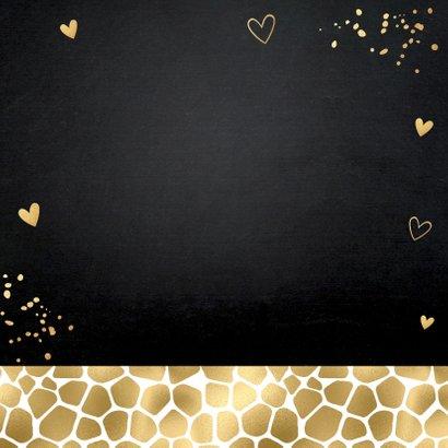Valentijnskaart foto zwart panter goudlook 2