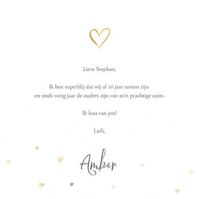 Valentijnskaart fotocollage met hartje en 5 eigen foto's 3