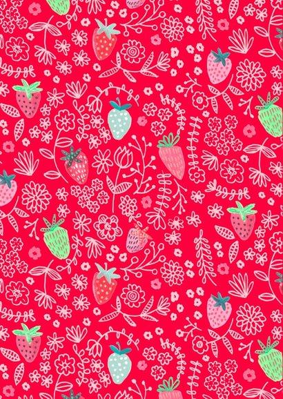 Valentijnskaart fruit & aardbeien  2