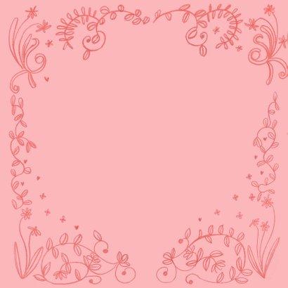 Valentijnskaart geschilderde hartjes en bloemen 2