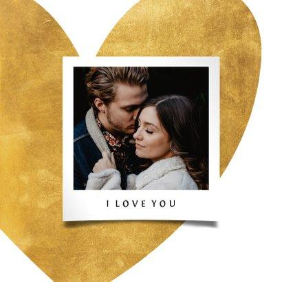 Valentijnskaart gouden hart met foto 2