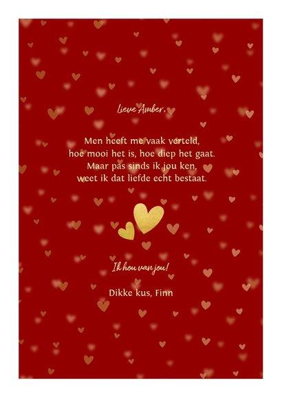 Valentijnskaart gouden LOVE met vakjes en foto's 3