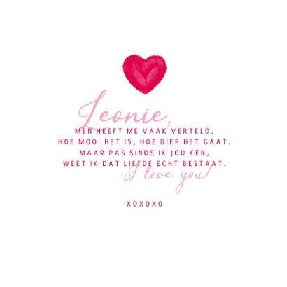 Valentijnskaart hart en naam 3