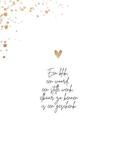 Valentijnskaart hart liefde goud spetters i love you 2