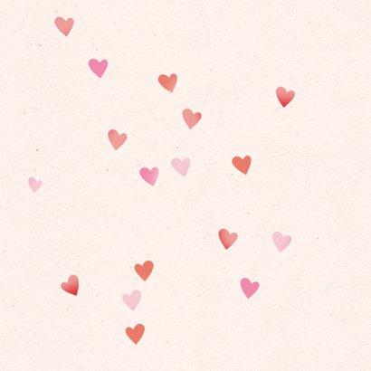 Valentijnskaart hartenregen 2