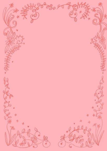 Valentijnskaart hartjes en bloemen 2