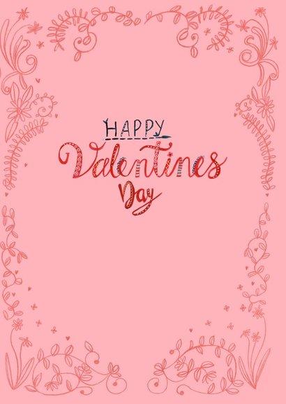 Valentijnskaart hartjes en bloemen 3