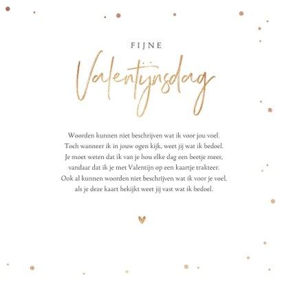 Valentijnskaart hartjes goud foto stijlvol klassiek 3