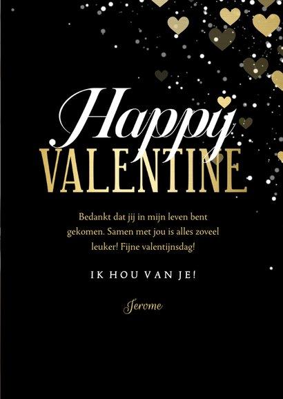 Valentijnskaart hartjeskader Happy Valentine  3