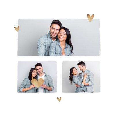 Valentijnskaart hip fotokaart hartjes goud 2