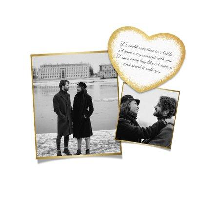 Valentijnskaart I love you fotocollage persoonlijk hartje 2