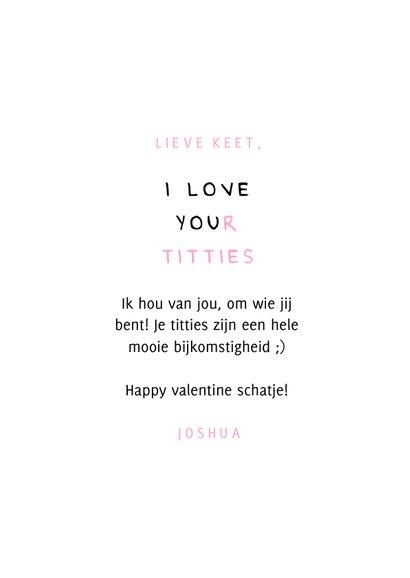 Valentijnskaart i love your titties 3