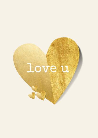 Valentijnskaart je hebt een hartje van goud 2