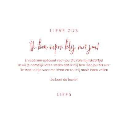 Valentijnskaart jij bent lief hartjes tulpen bloemen roze 3