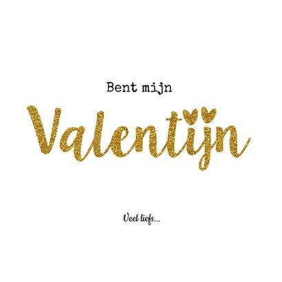 Valentijnskaart  jij... goud en glitter 3