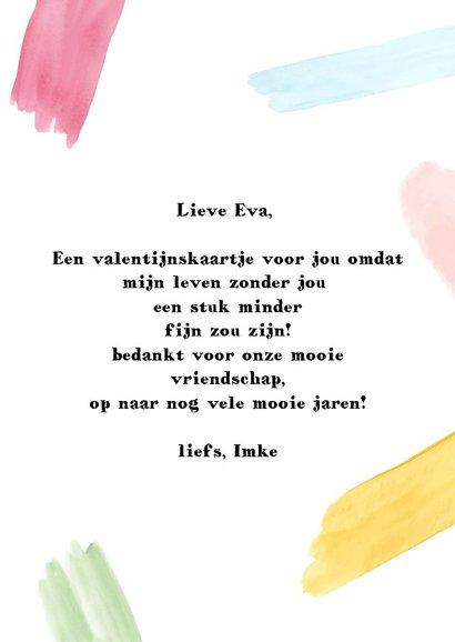 Valentijnskaart. Kleurrijke quote vriendschap  3