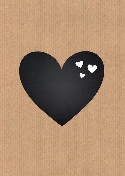 Valentijnskaart kraft fotocollage 2