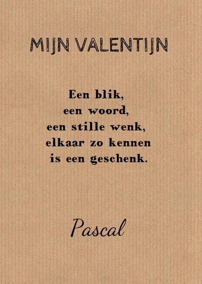 Valentijnskaart kraft fotocollage 3
