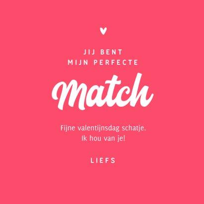 Valentijnskaart liefde rechts swipen online match 3