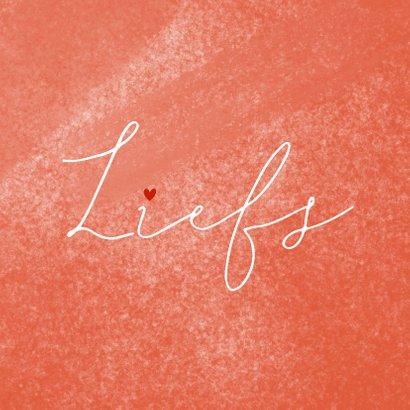 Valentijnskaart liefs rood hartjes op waterverf 2