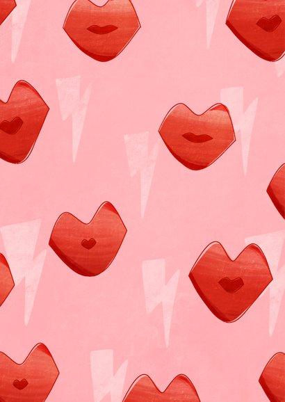 Valentijnskaart long distance valentine kisses met kusjes 2