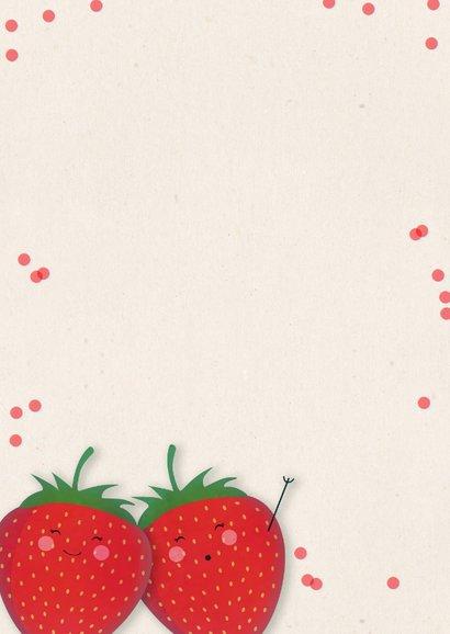 Valentijnskaart met aardbeien Love you berry much! 2
