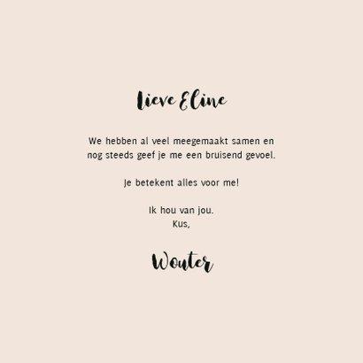 Valentijnskaart met champagne illustratie en leuke quote 3